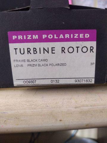 Óculos Oakley turbine rotor Black Camo Prizm - Foto 6