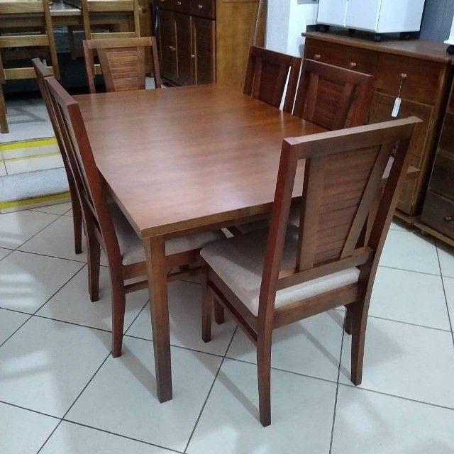 Mesa de jantar 6 cadeiras - Foto 6