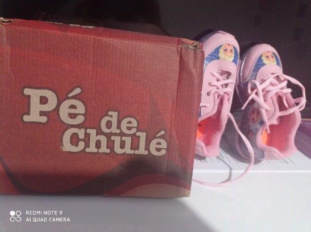 Tênis feminino infantil novo na caixa - Foto 3