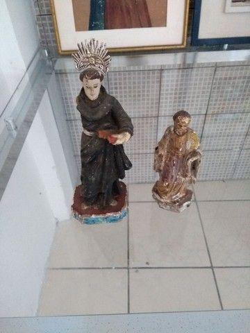Santo Antônio madeira antigo - Foto 4