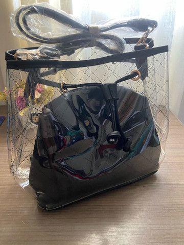 Bolsa transparente feminina médio 2x cartão  - Foto 4