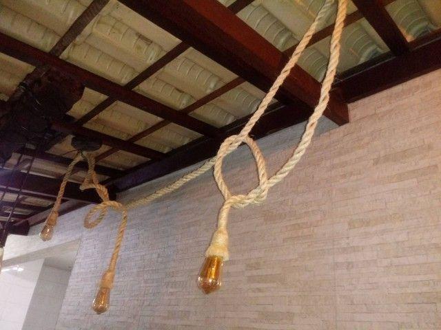 Luminária rústica em cordas - Foto 5
