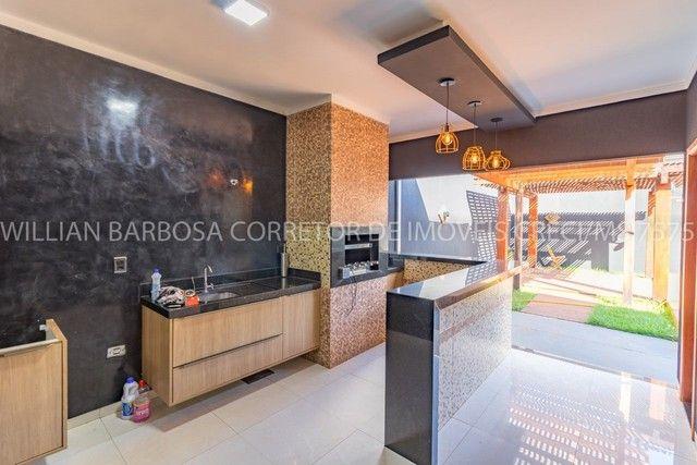 Casa com área de lazer completa e alto padrão de acabamento no Jd das Nações! - Foto 3