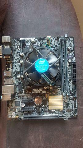 Placa mãe h110m +processador pentium 4400 skylake/3.3 ghz