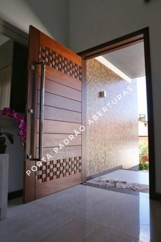 Porta Pivotante de madeira maciça Alto Padrão - Foto 2