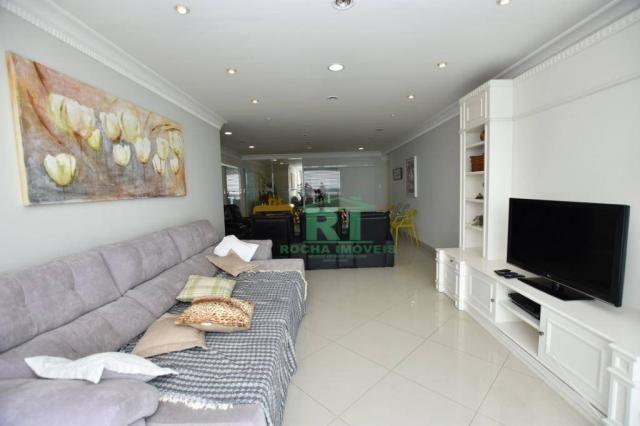 Apartamento com 4 dormitórios à venda, 190 m² - Praia das Pitangueiras - Guarujá/SP - Foto 3