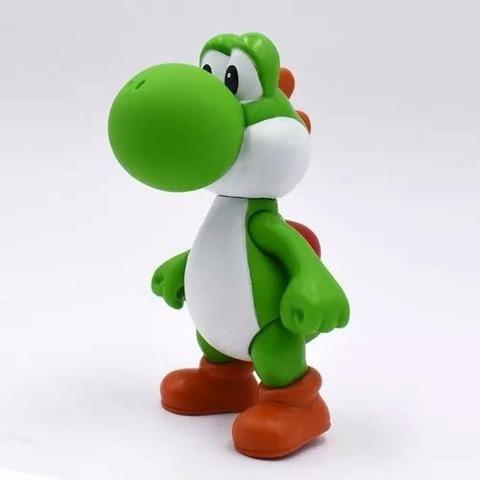 3 Bonecos Super Mario Bros Yoshi, Luigi, Mario Grandes 13cm - Foto 4