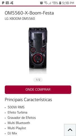 Mini system LG Xbom OM556o 500 W rms