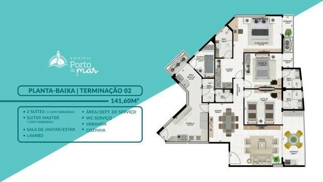 Edifício Porto do Mar, 3 suítes, 3 vagas _ São Marcos ? São Luis MA - Foto 10