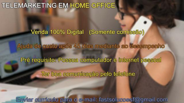 Telemarketing em Home Office