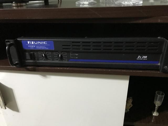 Amplificador Unic ZX200 Promoção 400 reais