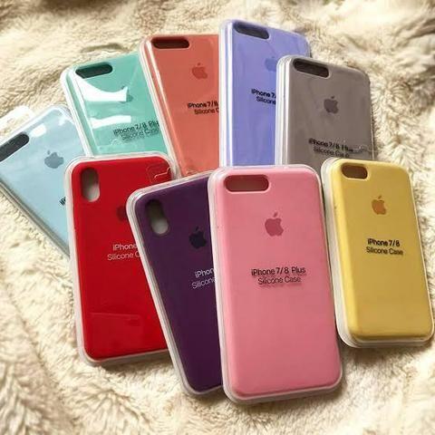 Case capa de silicone Apple para IPhone 6, 6s, 7, 8, 7 Plus, 8 Plus, X, XS é iPhone 11 - Foto 5