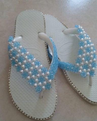 Está chegando o natal!!! Sandálias bordadas personalizadas incríveis a partir de R$45. - Foto 5
