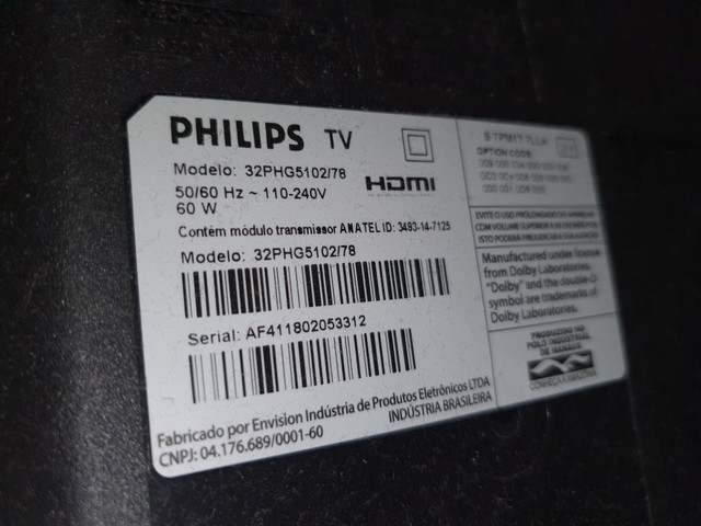 TV 32 Philips Smart , retirada dd peças - Foto 2