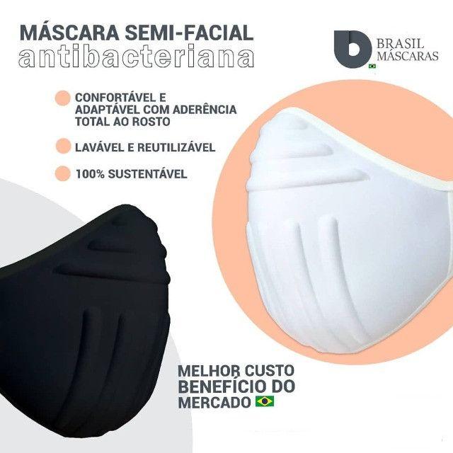Máscara Reutilizável Bojo Brasil Preta Tamanho único - Foto 3
