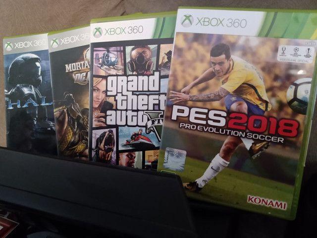 Xbox 360 com jogos originais - Foto 3