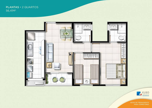 Apartamento para venda possui 56m² com 2 quartos em Itapuã - Salvador - BA - Foto 20