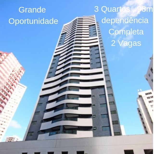 (DO) Edf Salamanca- Apartamento com 98m² , 3 quartos, Boa Viagem -  Excelente localização