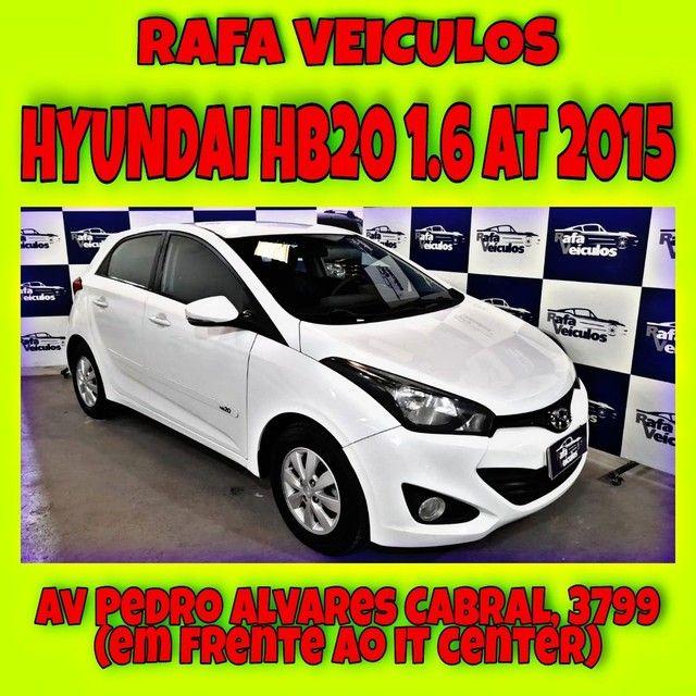 HYUNDAI HB20 1.6 AT 2015 1 MIL DE ENTRADA NA RAFA VEICULOS 93vgth(!*