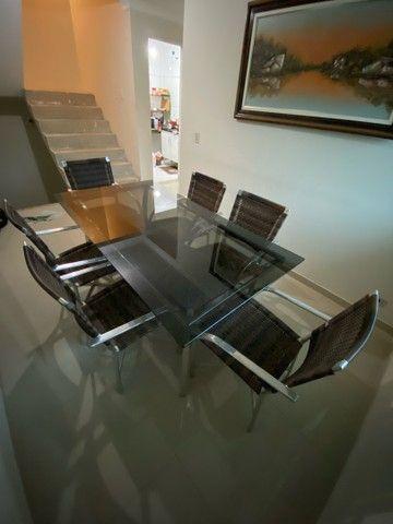 Vendo mesa de vidro com 6 cadeiras  - Foto 3