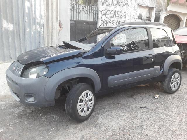Fiat uno way 2012 1.4 sucata peças