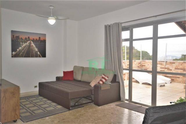 Cobertura na praia, confortável, 3 dormitórios sendo 1 suíte, 2 vagas, pitangueiras, guaru - Foto 17