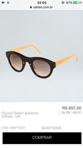 6fa536d85ab8c Oculos osklen Ipanema v - Bijouterias, relógios e acessórios ...
