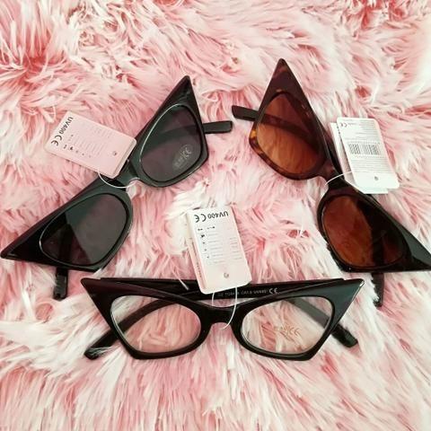 5cffb6e53e3b8 Óculos gatinho preto importado (Itália) (NOVO) - Bijouterias ...