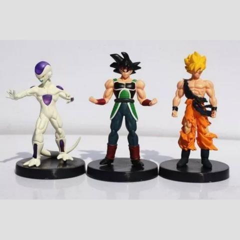 6 Boneco Dragão Ball Z Goku Frieza Vegeta Kuririn Burdock 18 - Foto 2