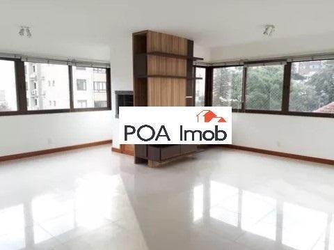 Apartamento semimobiliado com 3 dormitórios no petrópolis - Foto 4