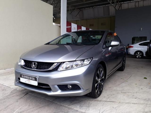 Honda 2016 Civic 2.0 lxr Automatico completo multimídia cinza único dono confira - Foto 3