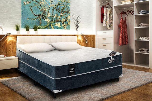 Conjunto colchão casal mola confortável - Novo - Foto 5