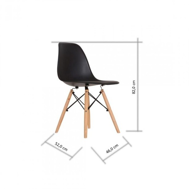 Cadeira base em madeira e aço  - Foto 2