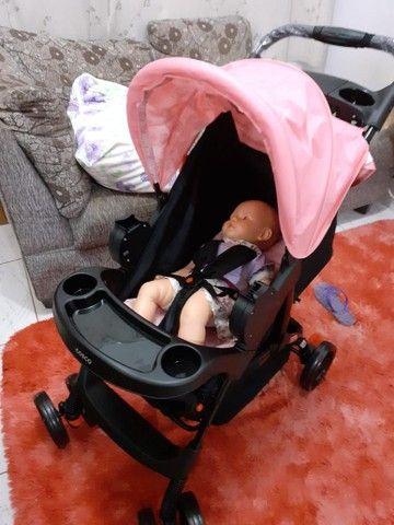 Carrinho com bebê conforto - Foto 4