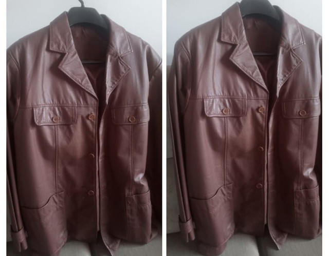 Jaqueta masculina de couro legítimo