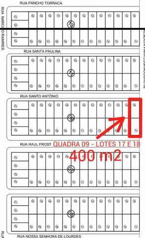 Terrenos de Esquina Área de 400 ou 200 m² em Dourados - MS