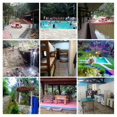 Chácara para festa com piscina,cachoeira,campo de futebol,pesqueiro