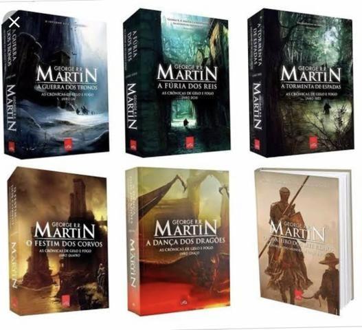 fdf412482 20 reais cada Vendo os 5 primeiros livros de game of Thrones ...