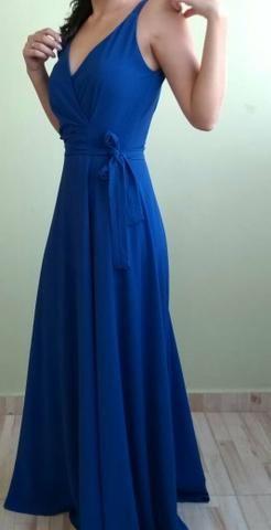 6a90926ea8f49 Vestido de madrinha de casamento azul royal - Roupas e calçados ...