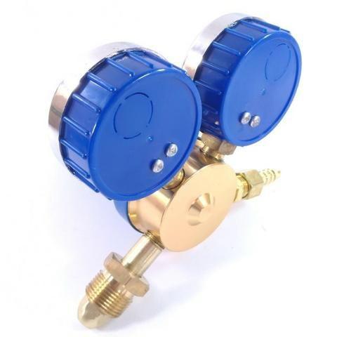 Regulador de Pressão para Cilindro de Gás Argônio ou Mistura Relógio/Manômetro - Foto 3