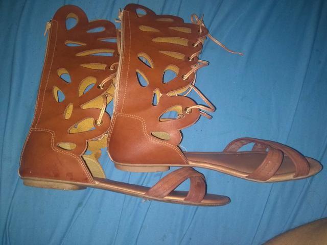 ebf1067ed4 Sandália gladiadora - Roupas e calçados - Minaslândia