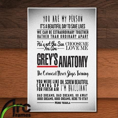 570412724 Quadro Decorativo Mdf Grey s Anatomy Frases - Frete Grátis - Objetos ...