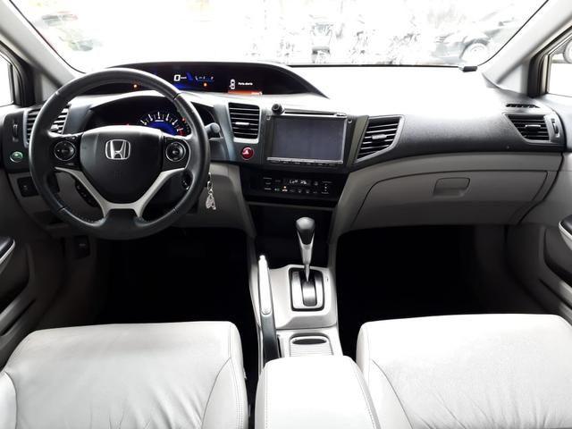Honda 2016 Civic 2.0 lxr Automatico completo multimídia cinza único dono confira - Foto 7