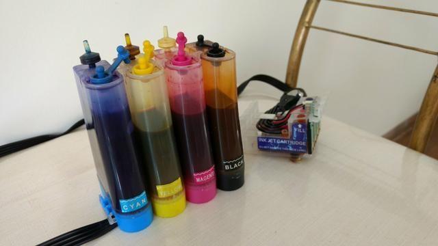 Kit bulk ink com tinta