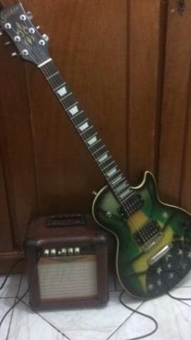 Guitarra golden + cubo amplificador Oneal +Cabo