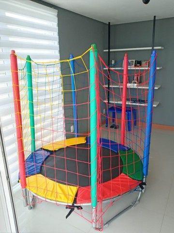 O pula pula Ideal para apartamentos e locais pequenos; Cama elástica 1,50m Premium - Foto 3