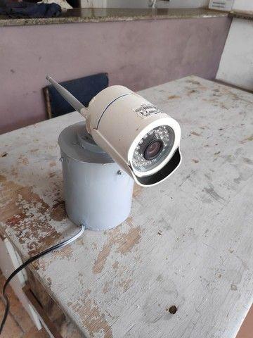 3 câmeras IP com fonte e nvr para gravação