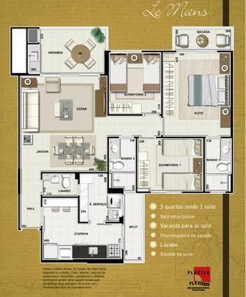 Apartamento para Venda em Cuiabá, Jardim das Américas, 3 dormitórios, 1 suíte, 3 banheiros - Foto 8
