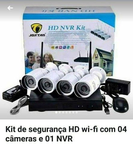 3 câmeras IP com fonte e nvr para gravação - Foto 2