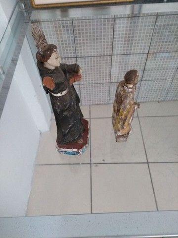 Santo Antônio madeira antigo - Foto 3